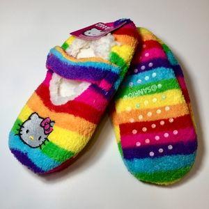 HELLO KITTY Rainbow Stripe Slipper Socks S/M